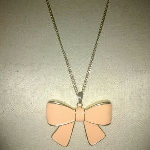 Jewelry - Silver Bow Necklace